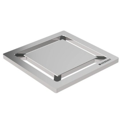 Gratar pentru sifon pardoseala Geberit FloorDrain, inox periat, patrat, 8x8 cm