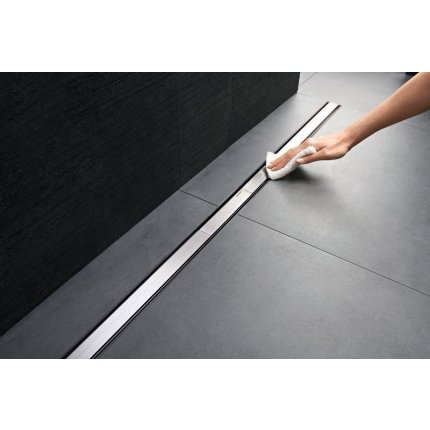 Capac rigola de pardoseala Geberit CleanLine20 lungime 30-90 cm, finisaj metal lucios-metal periat