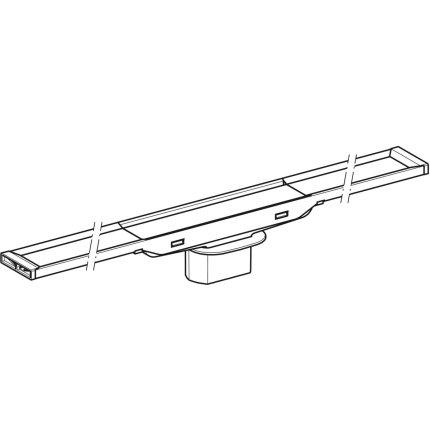Capac rigola de pardoseala Geberit CleanLine20 lungime 30-130 cm, finisaj metal lucios-metal periat