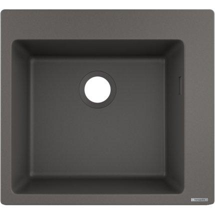 Chiuveta Hansgrohe S510-F450 SilicaTec 450, 51x56x19cm, stone grey