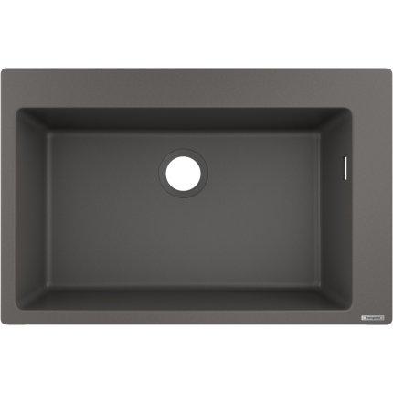 Chiuveta bucatarie Hansgrohe S510-F660 SilicaTec 660, cu 1 cuva, 51x77x19cm, stone grey
