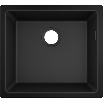 Chiuveta bucatarie Hansgrohe S510-U450 SilicaTec 450, cu 1 cuva, 45x50x19cm, montare sub blat, graphite black