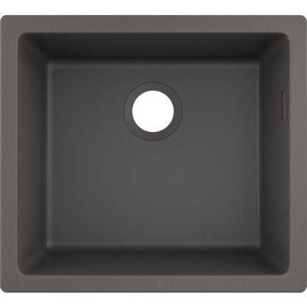 Chiuveta bucatarie Hansgrohe S510-U450 SilicaTec 450, cu 1 cuva, 45x50x19cm, montare sub blat, stone grey