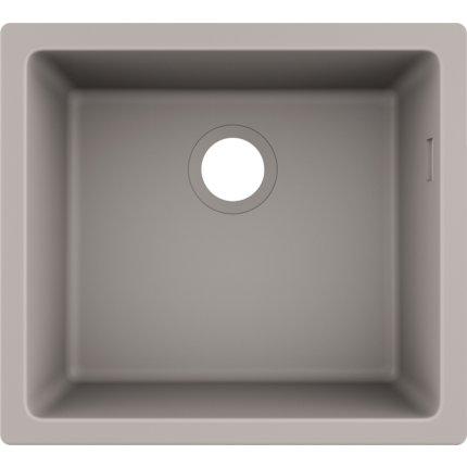 Chiuveta bucatarie Hansgrohe S510-U450 SilicaTec 450, cu 1 cuva, 45x50x19cm, montare sub blat, concrete grey