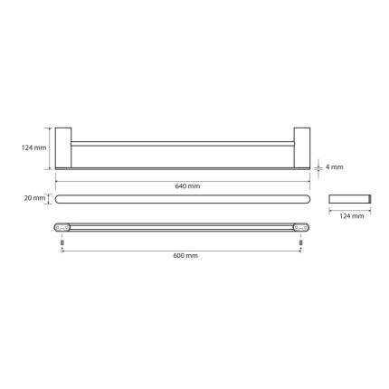Port-prosop dublu Bemeta Organic 60cm