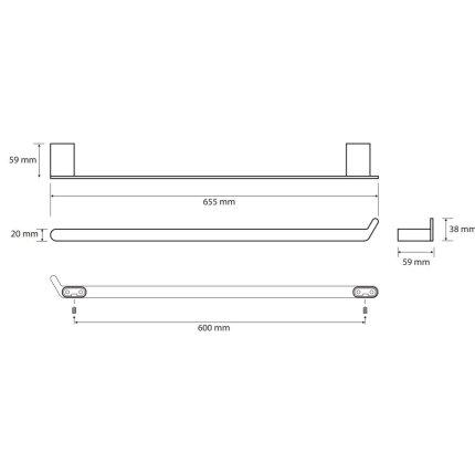 Port-prosop Bemeta Organic 60cm