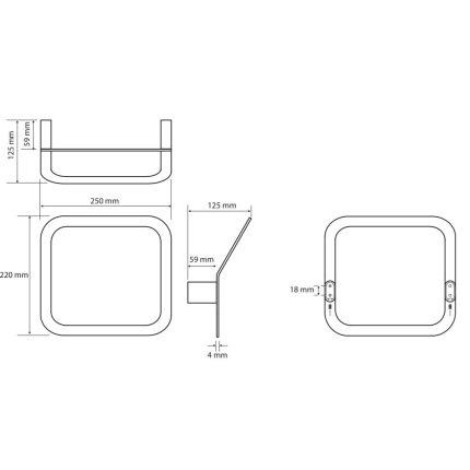 Inel asimetric port-prosop Bemeta Organic 25cm
