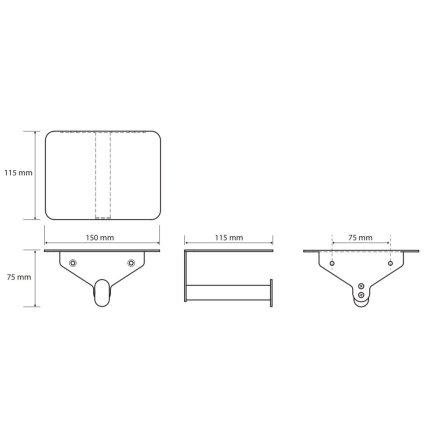 Suport hartie igienica Bemeta Organic, cu etajera