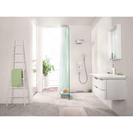 Divertor Hansgrohe Shower Select Glass pentru 3 consumatori, necesita corp ingropat, negru-crom