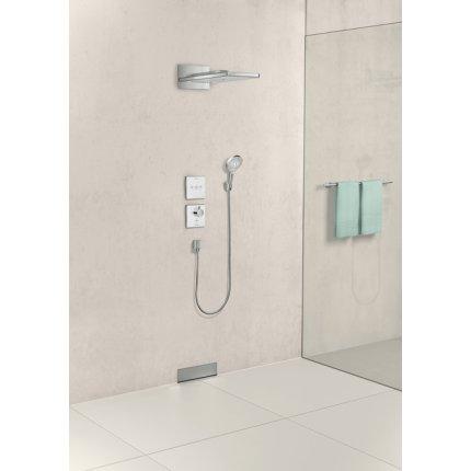 Baterie dus termostatata Hansgrohe ShowerSelect negru-crom, cu montaj incastrat, necesita corp ingropat