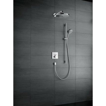 Baterie dus termostatata Hansgrohe ShowerSelect cu 2 functii, montaj incastrat, necesita corp ingropat, alb mat