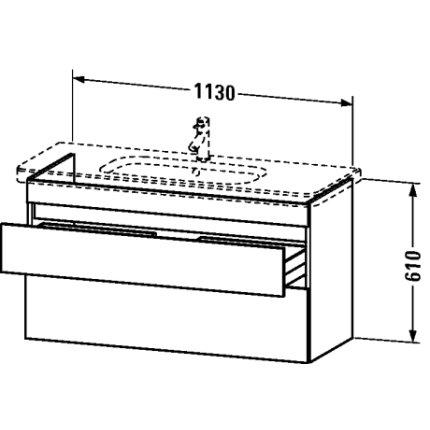 Dulap baza Duravit DuraStyle 113x44.8cm, 2 sertare cu inchidere lenta, taupe mat