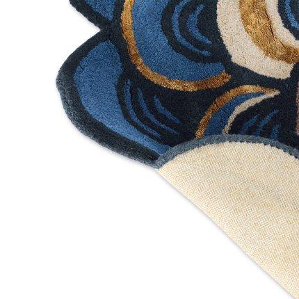 Covor Ted Baker Masquerade diametru 150cm, 160008 blue