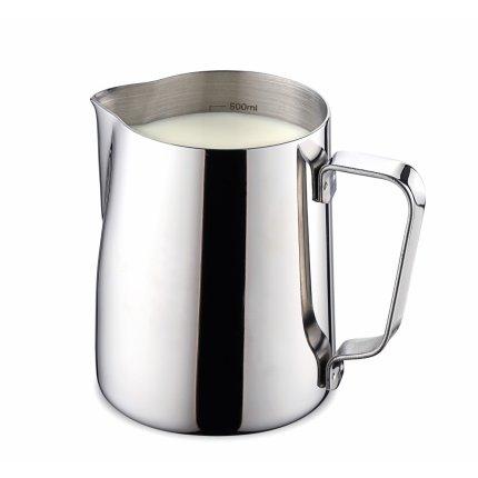 Vas servire lapte inox Karl Weis Premium 16002, gradatie interioara, 500ml