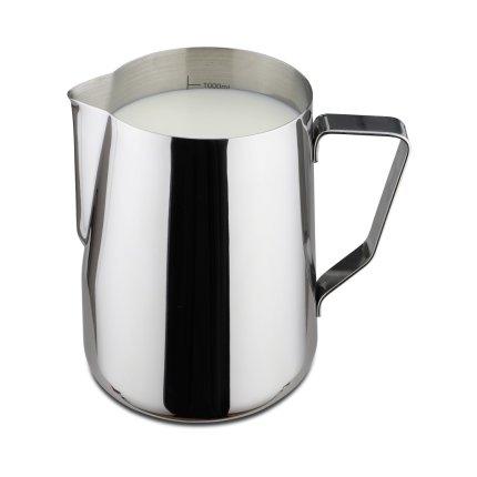 Vas servire lapte inox Karl Weis Premium 16006, gradatie interioara, 1 litru