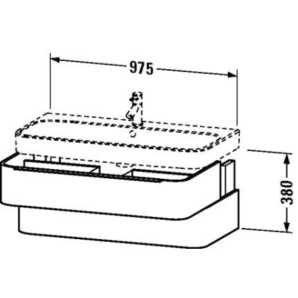Dulap baza Duravit Happy D.2 97.5x48cm, 2 sertare inchidere lenta, stejar inchis