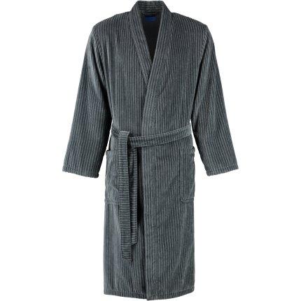 Halat de baie barbati Joop! Velour 1630 tip kimono, M, grafit