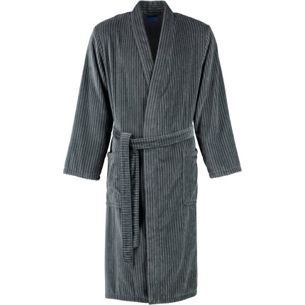 Halat de baie barbati Joop! Velour 1630 tip kimono, XL, grafit