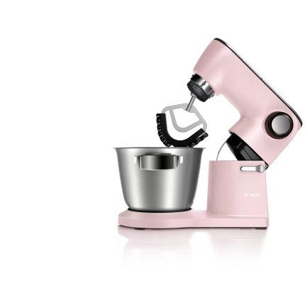 Robot de bucatarie Bosch OptiMUM MUM9A66N00 1600W, bol inox 5.5litri, 7 viteze + Puls, roz