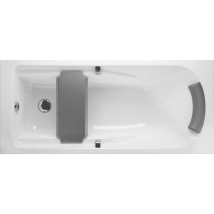 Cada baie rectangulara Kolo Comfort Plus 170x75cm, acril, manere si picioare incluse
