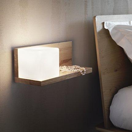 Aplica Ideal Lux Toledo-2 AP1, 1x60W E27, lemn
