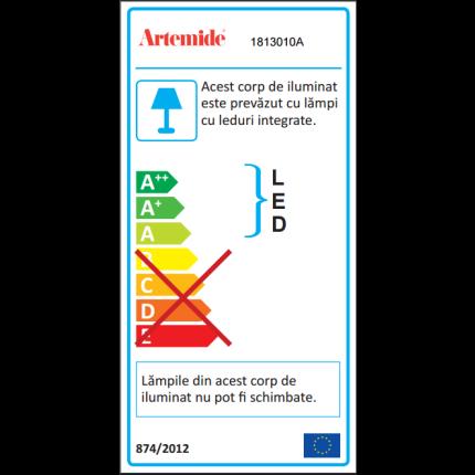 Veioza Artemide Empatia 36 design Carlotta de Bevilacqua , Paola di Arianello, LED 24W, alb
