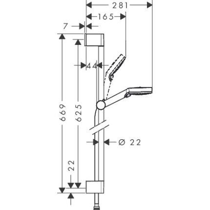 Sistem de dus incastrat Hansgrohe Design Crometta Focus cu 2 consumatori
