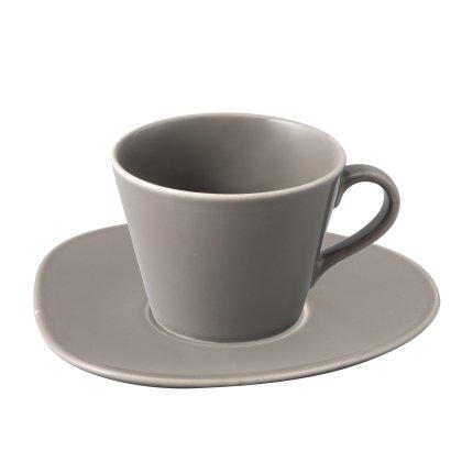 Ceasca si farfuriuta pentru cafea Villeroy & Boch Organic Taupe 0.27 litri