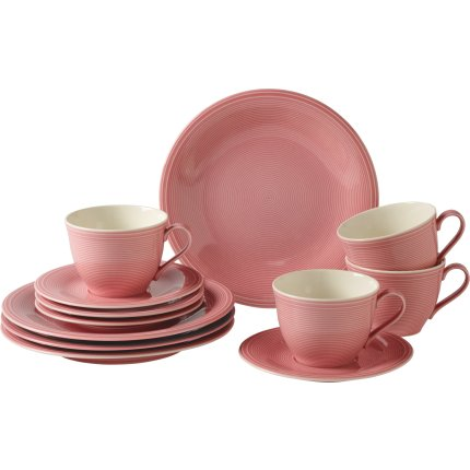 Set servire like. By Villeroy & Boch Color Loop Rose Coffee 12 piese