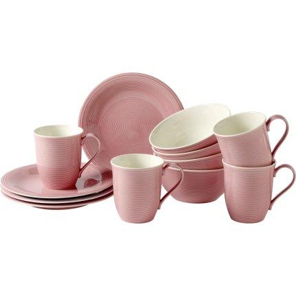 Set servire like. By Villeroy & Boch Color Loop Rose Breakfast 12 piese