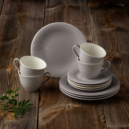 Set servire like. By Villeroy & Boch Color Loop Stone Coffee 12 piese