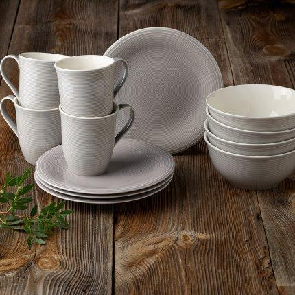 Set servire like. By Villeroy & Boch Color Loop Stone Breakfast 12 piese