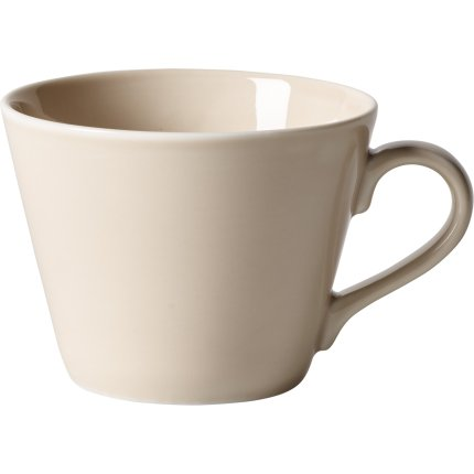Ceasca si farfuriuta cafea like. By Villeroy & Boch Organic Sand 0.27 litri