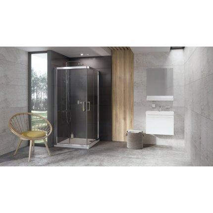 Cabina de dus patrata Ravak Concept 10° 10RV2-90, 90x90cm, alb