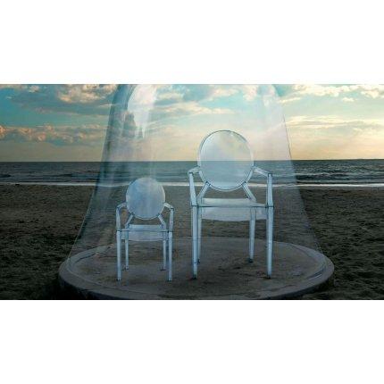 Scaun copii Kartell Lou Lou Ghost design Philippe Starck, transparent
