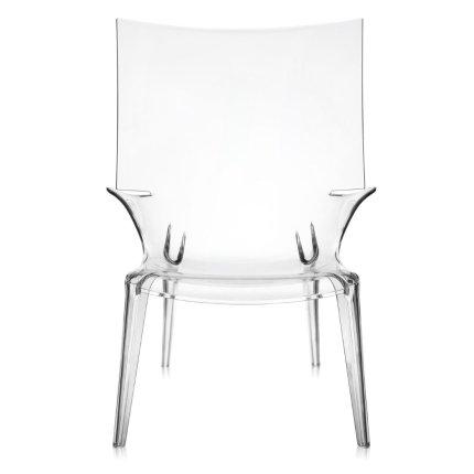 Scaun Kartell Uncle Jim design Philippe Starck, transparent
