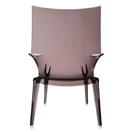 Scaun Kartell Uncle Jim design Philippe Starck, fumuriu transparent