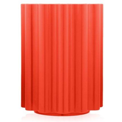 Masuta Kartell Colonna design Ettore Sottsass, 34.5cm, h 46cm, rosu