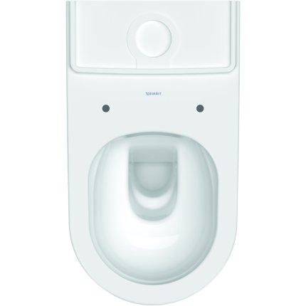 Vas wc Duravit D-Neo Rimless HygieneGlaze 37x65cm, back-to-wall, pentru rezervor asezat
