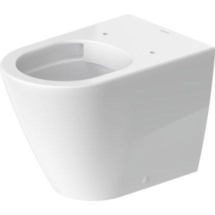 Vas WC Duravit D-Neo Rimless pentru rezervor ingropat cu finisaj WonderGliss