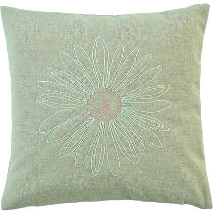 Husa perna Sander Embroidery Daisy 40x40cm, 19 bej