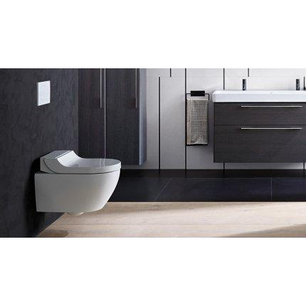 Set vas WC suspendat Geberit AquaClean Tuma Classic, capac inchidere lenta, functie bideu electric