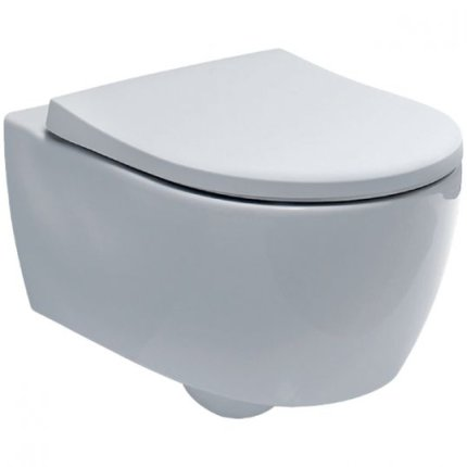 Set vas wc suspendat Geberit iCon Rimfree cu capac inchidere lenta