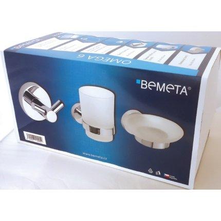 Set accesorii baie Bemeta Omega 6 piese, crom
