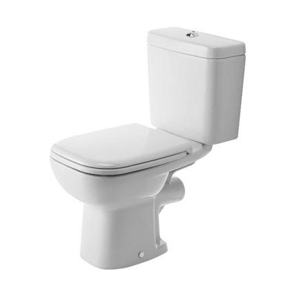 Set complet vas WC Duravit D-Code cu rezervor asezat si capac inchidere lenta