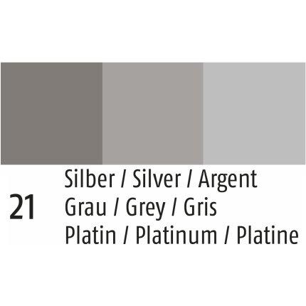 Husa perna Sander Fellini 50x50cm, 21 silver