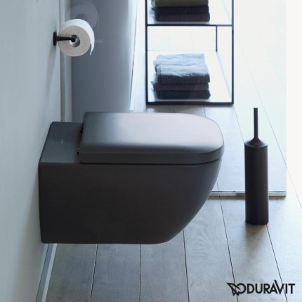 Vas WC suspendat Duravit Happy D.2 Rimless, antracit