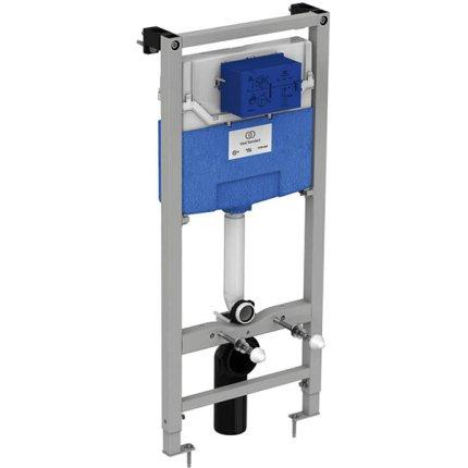 Set vas WC suspendat Ideal Standard Tesi Aquablade, capac inchidere lenta si rezervor incastrat ProSys cu clapeta Oleas M1 crom