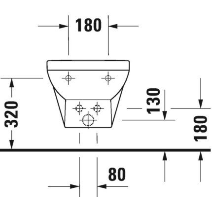 Bideu suspendat Duravit DuraStyle Basic 54x37cm