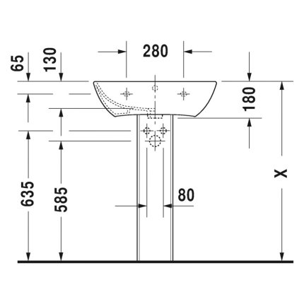 Lavoar Duravit ME by Starck 60x46cm